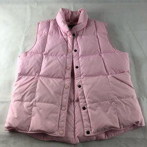 Lands End Dusty Pink Puffer Vest M